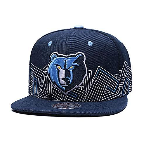 bhaber Basketball-Team einstellbar Unisex-Erwachsene Sport Flache Mütze und Huset warm Manschette Strickmütze (Memphis Grizzlies) ()