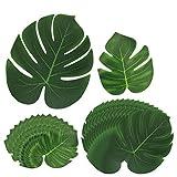 [30 Stück] Tropische Blätter, Htianc Palmenblätter Dschungel Strand Thema Party Hochzeit Dekorationen Tischdekoration