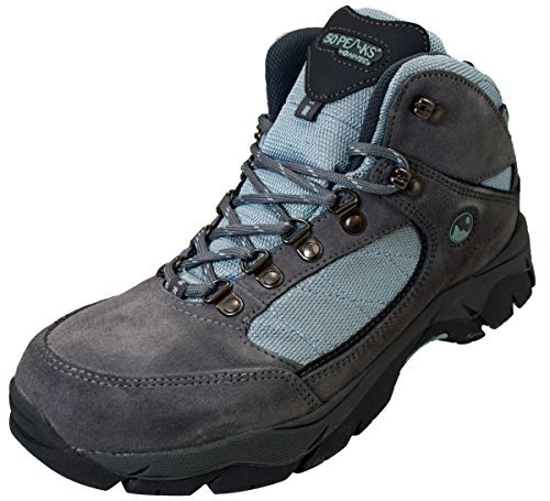 Hi-Tec - Calzatura trekking da donna, impermeabile, colore: Azzurro, Grigio, 37 (UK 4)