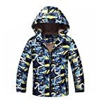 Koo-T Boys Raincoat Mac Summer Jacket Hood Wind Breaker Lightweight Age 3 4 5 6 7 8 9 10 11 (4-5 Years (Medium), Navy Star Print)