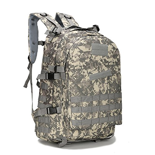 LF&F Military Pack Tarnung taktische Tasche Schultertasche wasserdichte Oxford Bergsteigen Tasche Outdoor Rucksack Sport Rucksack Camping Rucksack Wanderrucksack Multifunktions Großraum Rucksack E