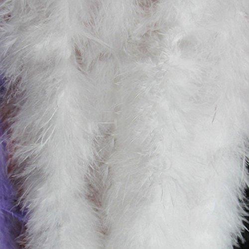 rthday Hochzeit Decor 2 Meter gefärbt, Mehrfarbig, Truthahn-Feder, Boa, Marabufedern, Boas, Bars, Partykleidung, Zubehör, CNTU-765348-1598, weiß ()