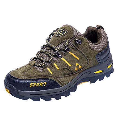 Chaussures de Randonnée Homme CIELLTE Sneakers Chaussures de Running Chaussures de Sports Baskets Solides à Lacets Athlétique Protection