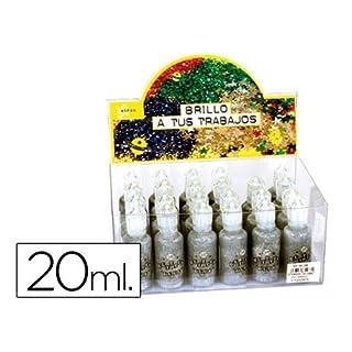 Aironfix 59236 24 Bottle Glitter Glue, Silver
