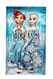 Anna & Elsa Princess Fashion Dolls with New Dresses Toy Dolls for Girls - Multicolor