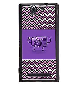 Fuson 2D Printed Cartoon Designer back case cover for Sony Xperia C3 D2533 - D4274