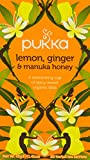 Pukka Organic Lemon Ginger and Manuka 20 Tea Bags (Pack of 4)