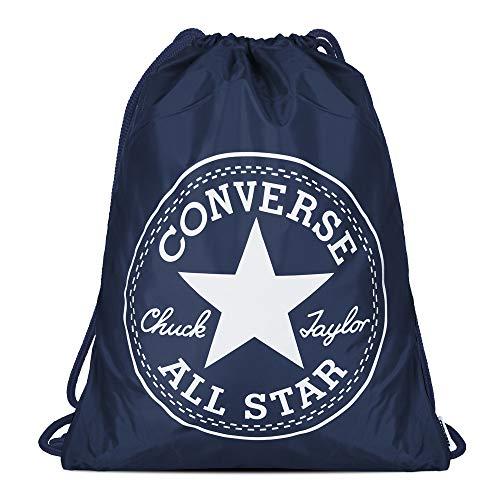 Converse Unisex Turnbeutel Cinch Bag Deep Navy White (dunkel blau) - Blau Cinch