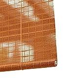 Bambusrollo- Bambus-Rollos 60% Shading Rate, Lichtfilterung Fenster Sichtschutz Rollos Hakenmontiert - Amber Yellow (Größe optional) (größe : 60x200cm)