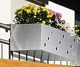 Reinkedesign Blumenkasten aus Edelstahl 60 cm mit Halterung
