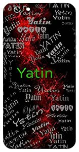 Yatin (Ascetic,Devotee) Name & Sign Printed All over customize & Personalized!! Protective back cover for your Smart Phone : Moto G-4-PLAY