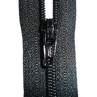 Estremità chiusa con zip–Nero–YKK–Cucito–Ideale per abiti/pantaloni/gonne/cuscini e arte e–Misure: 4/5/6/7/8/9/10/12/14/16/18/20/22/24/26/28/30/32/34/36