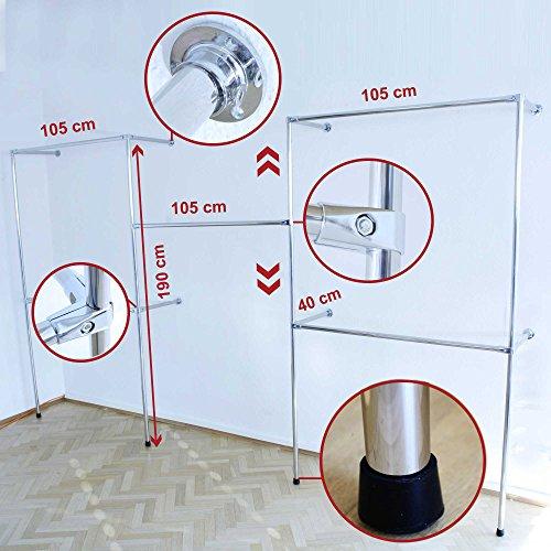 Kleiderstnder-Kleiderstange-Garderobenstnder-begehbarer-Kleiderschrank-320-cm-x-190-cm-x-40-cm