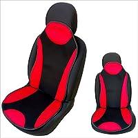 Sitzauflage Sitzpolster Schwarz CSC301 Rot 1 Paar