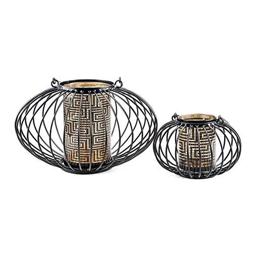 44022 Laterne Africa mit LED-Kerze, Höhe 14 cm