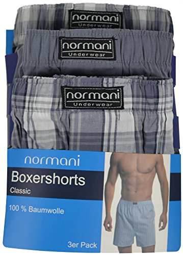 3 x Boxershorts aus reiner Baumwolle original normani® Exclusive Grau