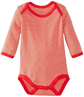Noa Noa Baby Girls Basic Striped Body 1914-01 Bodysuit, Pink (Dark Geranium), 0-3 Months (Manufacturer Size:0 Months)