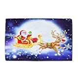 Gaddrt Weihnachtsboden Badezimmer Teppich Küchentür Bad Matte Indoor Badewanne Teppich Tür Matten Dekor (C)
