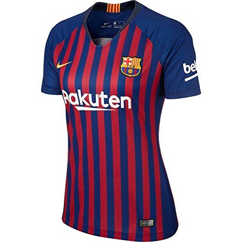 Brand new, official Barcelona Sponsored Version Womens Home Shirt for the 2018 2019 La Liga season. This is the new ladies Barcelona football shirt which is available to buy online in a full range of ladies sizes and is manufactured by Nike.Add the n...