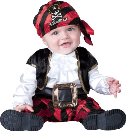 Baby-oder Kleinkind Incharacter Piraten-Kostüm - Kapitän Stinker 6-12 (Incharacter Piraten Kostüm)