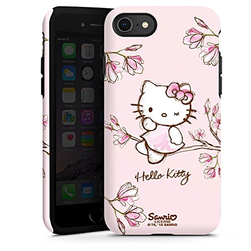 Hello Handy Kitty (Apple iPhone 8 Hülle Tough Case Schutzhülle Hello Kitty Merchandise Fanartikel Magnolia)