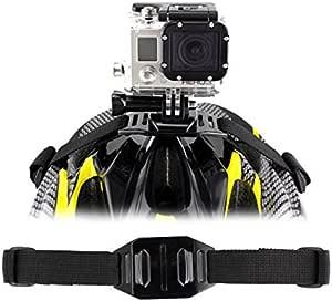 Helm Halterung Sports Kamera Auslassen Helmhalterung Mount Gurthalterung Belüftete Helmet Befestigung Montage Helmband Ständer Halter Stative