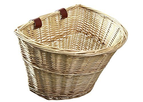 Front Cargo (ProSource Wicker Front Handlebar Bike Basket Cargo by ProSource)
