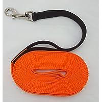 [Gesponsert]Flex Fährtenleine Schleppleine mit Ruckdämpfer orange 30m-20mm Hundeleine