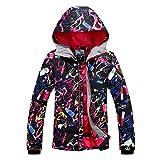 APTRO Damen Skijacke warm Jacke gefüttert Winter Jacke Regenjacke Schwarz 9638 M