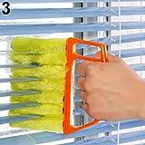 KaariFirefly Microfibre Venetian Blind Cleaner Window Conditioner Duster Shutter Clean Brush - Orange 13.5cm x 16cm