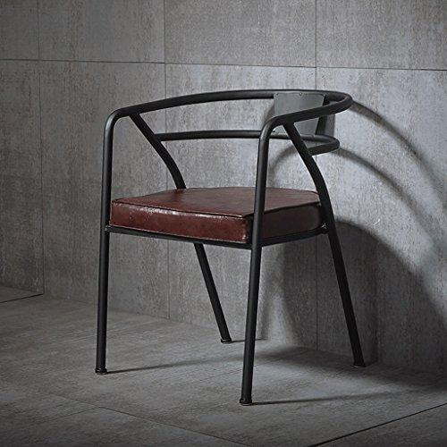 Schmiedeeisen-sofa (Klappstuhl Stühle Amerikanisches Land Retro industriellen Stil Leder Schmiedeeisen Sofa Lounges Stuhl/Café / Bar/Restaurant | Brown Inneneinrichtung)