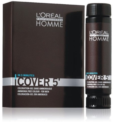 L'Oréal Professionnel Gel Homme Cover 5 Couleur de cheveux – 5 Marron clair