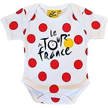 Body bebé mejor escalador–Le Tour de France–de Ciclismo–Collection officielle–Talla bebé niño, color blanco, tamaño 18 meses