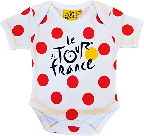 Body bebé mejor escalador – Le Tour de France – de Ciclismo – Collection officielle – Talla bebé niño, color blanco, tamaño 18 meses