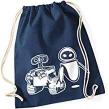 Wall · E y Eve el último despeja la Tierra a/TURN Bolsa con FUN Diseño aufdruck Mochila Gym Bolsa/regalo ideal, niño, French Navy (Dunkel Blau)