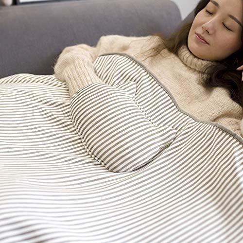 Tethysun - coperta riscaldata, scialle morbida e riscaldata, alimentata tramite usb, con tasca scaldamani per adulti, bambini, per casa, ufficio