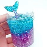 120 ml Meerjungfrau DIY Schleim, Mischen Wolke Schleim Spachtelmasse Duft Stress Kunst Ton Spielzeug Geschenk Für Mädchen Jungen (Multicolor)