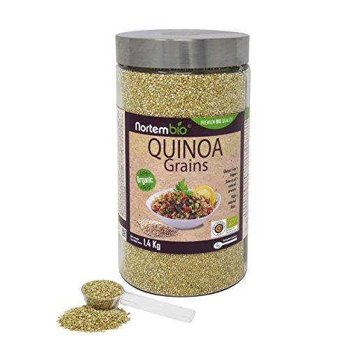 Semillas de Quinoa Natural NortemBio 1,4 kg, Calidad Premium. Excelente...