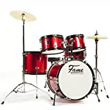 Kiddyset 5 PC Junior Drumset'Elias' Red