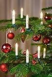 12er LED Weihnachtskerze, Wahlweise in den Farben: Rot, Silber, Creme/Elfenbein mit Glitter, Creme/Elfenbein, Gold und Creme/Elfenbein mit Farbwechsel inkl. Batterien, Dimmbar, Flackermodus, Timer, GS geprüft, Hansecontrol Testnote: 1,7 - kabellose Weihnachtsbaumbeleuchtung für Innen- und Außen (Creme/Elfenbein))