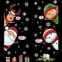 QZHE Adesivi Murales Natale Wall Stickers Per Natale Decorazioni con  Fiocchi di Neve Decorazioni Natalizie per 995bfd915caf