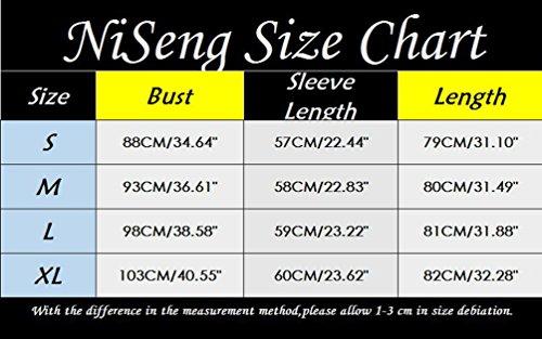 NiSeng Donna Colletto A V Maniche Lunghe Camicetta Pizzo Patchwork Lungo T-Shirt Elegante Tinta Unita Irregolare Camicia Verde
