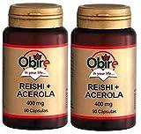 REISHI + ACEROLA 400 mg. 2 X 90 Cáps. OBIRE