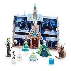 Château changeant de couleurs à l'eau La Reine des Neiges: une Fête Givrée Disney