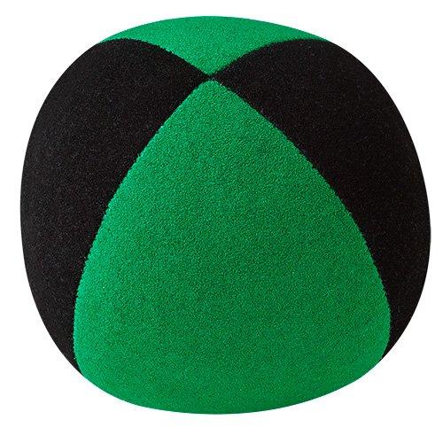 Jonglierball: Henrys Beanbag superior (Velours) 67mm, schwarz-grün