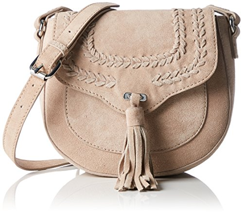 PIECES Pcdaggy Suede Cross Body BAG, Borsa a Tracolla Donna, Beige (Nature), 20x18x7 cm (B x H x T)