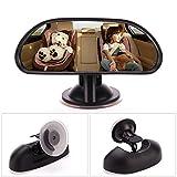 Auto Baby Spiegel Rücksitzspiegel Sicherheits - Seametal Rückspiegel für Babyschale und Kindersitz, drehbar, neigbar, Reboarder Babyspiegel 360 ° Rotation