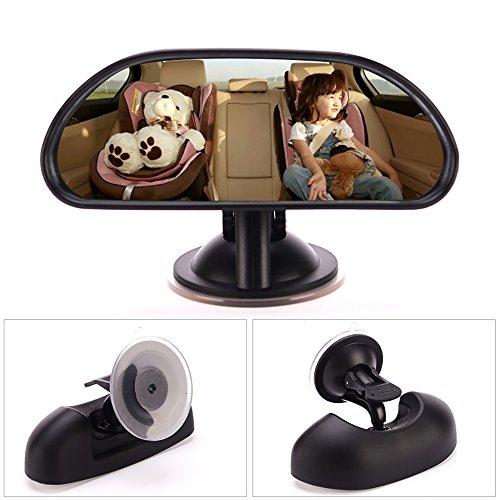 Seametal Rücksitzspiegel Baby Spiegel Auto - Rückspiegel für Babyschale und Kindersitz, Autospiegel für Ihr Baby in der Reboarder zu beobachten Reboarder Babyspiegel 360 ° Rotation