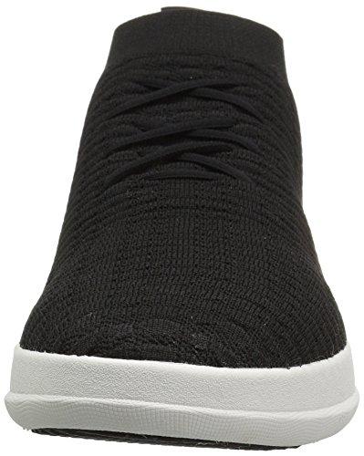 FitFlop Herren Uberknit Slip-On High Top Sneaker Waffle Hohe, Schwarz Schwarz (Schwarz)