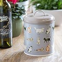 Prodbuy 2 Litre Metal Cat Treat Storage Tin